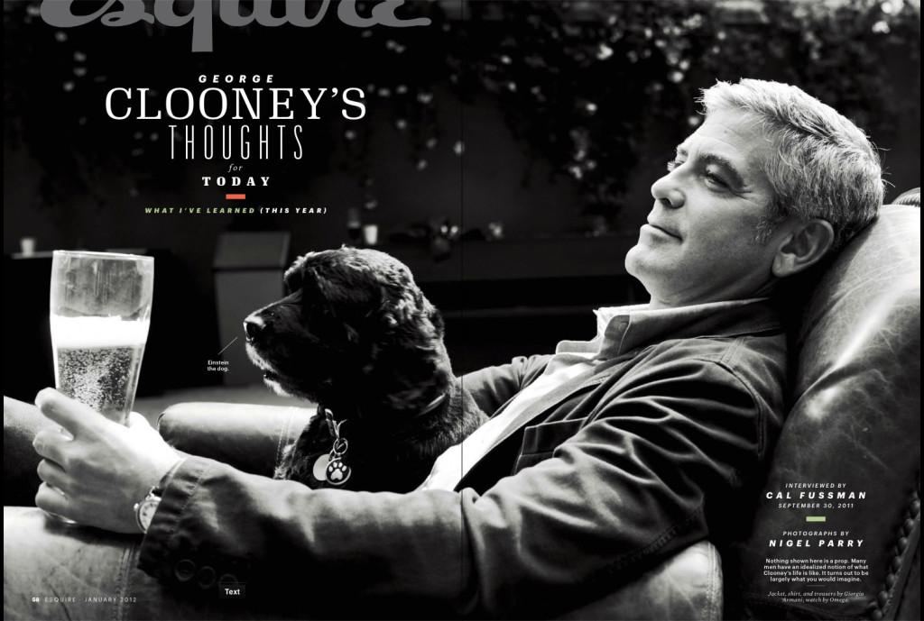 Ο ηθοποιός αγκαλιά με τον Αϊνστάιν ποζάρει στο φακό του περιοδικού Esquire.