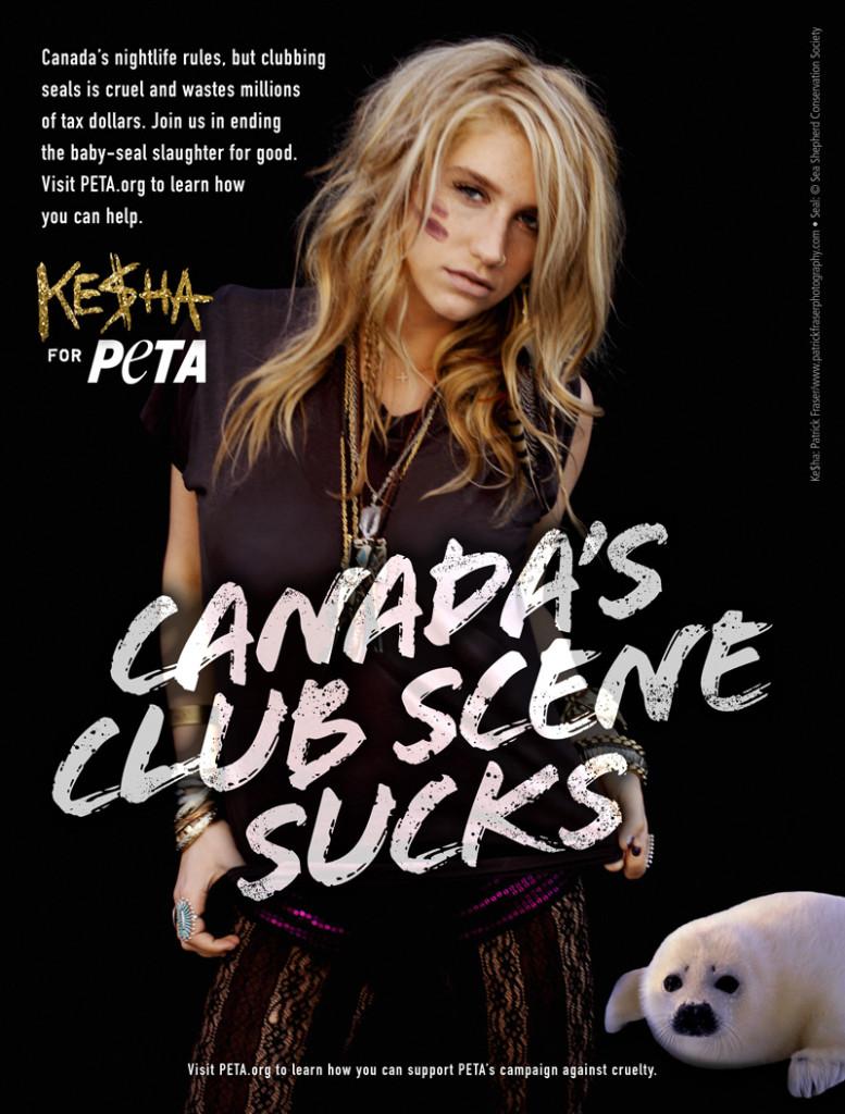 Ke$ha Fights Canada's Seal Slaughter